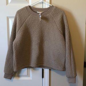 Banana Republic Sherpa pullover sweatshirt